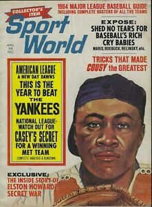 SPORT WORLD- APRIL 1964 ELSTON HOWARD, YANKEES ON COVER