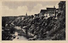 LAZNE BECHYNE CZECHOSLOVAKIA PANORAMA PHOTO POSTCARD 1940s