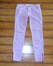 CURRENT ELLIOT ~ Size 28 ~ Neon Purple THE ANKLE ZIP Skinny Cropped Jeans 6