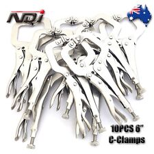 """10pcs Heavy Duty Steel 6"""" C-Clamps Mig Welding Locking Plier Vice Grip 0106"""