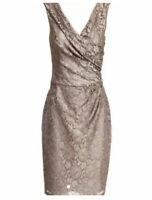 Reiss Lourdes Dress In Deer Grey. Size 12. RRP £170. Worn Twice.