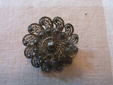 Swirl Brooch - Beautiful! Vintage Silver Pin Flower