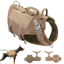 K9 Dogs Training Harness Police Molle Service Harness Vest Soft Mesh Padded M-L