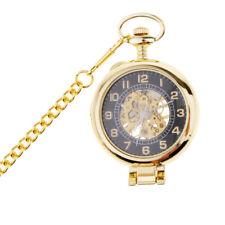 Antique Skeleton Steampunk Hand Wind Mechanical Pocket Watch Chain Necklace
