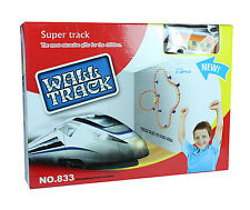 New Kids Battery Operated Super Wall Track Train Set Light Gift UK Seller