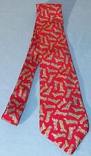 Cravate rouge  motif voitures ancienne 100 % soie marque « SEPR »