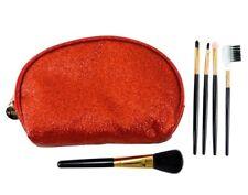 LE KIKKE Astuccio Beauty + 5 Pennelli Make Up Trucco ROSSO Set Porta trucchi