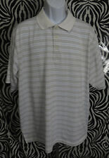 Grand Slam Golf Mens Size XXL Short Sleeve Polo Shirt Polyester Striped Top VGC