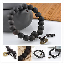 Hot Wood Buddha Buddhist Prayer Beads Tibet Bracelet Mala Bangle Wrist Ornament