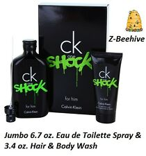 Calvin Klein CK ONE Shock For Him EDT 6.7 oz. & Hair Shower Gel 3.4 oz. SEALED