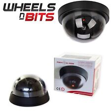Dome Dummy Fake CCTV Camera Black With flashing LED Safe Security Surveillance