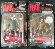 Mezco Cinema of Fear 3 3/4 Figure Lot Jason and Freddy
