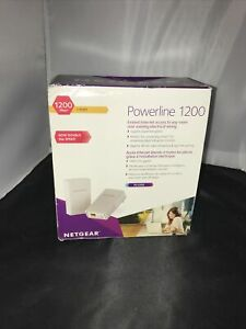 Netgear Powerline 1200 Model PL1200 2 Adapters 2 Ethernet Cables Instructions