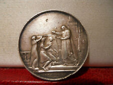 1900 Historical Silver Marriage 29mm Medal Token by Montagny Religious Wedding