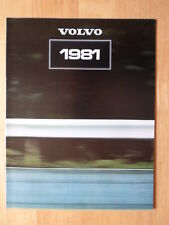 VOLVO Range 1981 UK Mkt sales brochure - 343 345 244 245 264 265