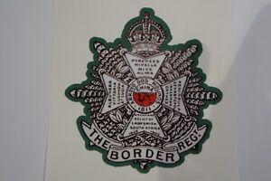 "2 X  THE BORDER REGIMENT  STICKERS  4"" BRITISH ARMY"