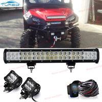 "20"" Inch 294W LED Work Light Bar Flood Spot Combo Offroad Driving Lamp Car Truck"