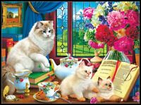 Afternoon Lessons - Chart Counted Cross Stitch Patterns Needlework DIY DMC