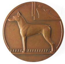 France canine award dog DOBERMAN PINSCHER bronze 50mm by Briquemont