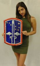 """172nd Infantry Brigade Metal Sign 13 x 9"""" See Video for Discount"""