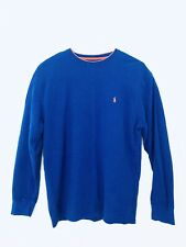 Polo Ralph Lauren Thermal Royal Blue Orange Pony Long Sleeve Shirt Men XXL 2XL