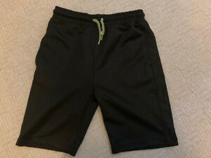 Boys Black Sports Shorts 7-8 years