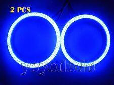 Blue 2X New hot 60mm Angel Eyes 66leds SMD BMW Style Bright Halo Ring Light G043