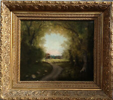 Hudson River School early Luminist Landscape painting signed Heade
