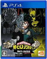 USED PS4 PlayStation 4 My Hero Academia One's Justice 32200 JAPAN IMPORT