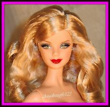 Nude model muse barbie long curly blonde hair 1 for ooak or play