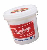 24 Rawlings Official League Competition Baseballs Bucket. MLB Pack Bulk 2 Dozen