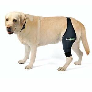 Hunde Kniebandage Ortocanis Bein rechts Oberschenkelumfang 25-28cm Gr S Schwarz