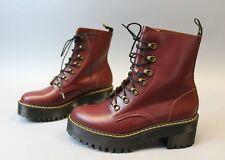 Dr. Martens Women's Leona Vintage Smooth Boots TW4 Oxblood Size 10
