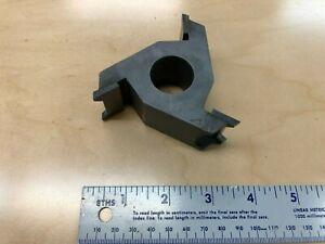"""LRH Double Chamfer Shaper Cutter 1"""" bore 3 7/8"""" diameter 1 1/4"""" tall"""