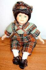 Musical Porcelain Chubby Boy Doll Wind-Up Music Box Somewhere Over the Rainbow
