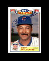 Billy Williams Hand Signed 1988 Topps All Star Chicago Cubs Autograph