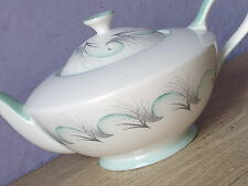 Vintage 1950's Mid Century Modern Royal Standard green English bone china teapot