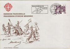 142470 emissione francobollo processioni storiche  mendrisio 1977