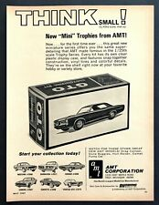 1967 AMT Pontiac GTO Coupe 1/43 Model Kit Box photo Think Small vintage print ad