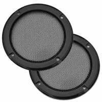 2x 3 Zoll Lautsprecherabdeckung Grill Audio Schutzhauben Kasten Ineinander·
