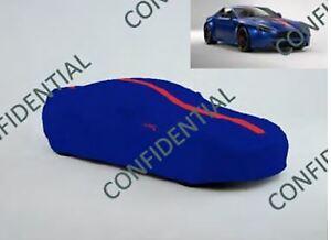Aston Martin V8/V12 Vantage AMR Indoor Car Cover - Zaffre Blue with Red