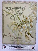 Antique Raphael Tuck Spiritual Readings Book Die Cut F. R. Havergal, G. Hairé
