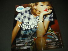 TAYLOR SWIFT Billboard's Woman Of The Year 2014 PROMO POSTER AD mint condition