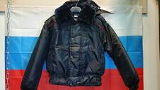 NEWEST RUSSIAN POLICE WINTER PILOT BOMBER PARKA JACKET MIDNIGHT NAVY ALL SIZES