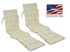 Made in USA Steamer Chair Replacement Cushion Pad (2-PACK)