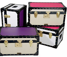 "Mixed Colour Candy Mossman Boarding School Flip Lock Tuck Box Trunk 20""x13""x11"""