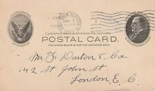 1904 USA postcard (McKinley) sent from New York to London