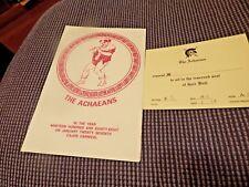 Krewe Of ACHAEANS 88 Ball Program invitation Mardi Gras New Orleans Cajun Carniv