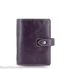 Filofax Pocket Size Malden Organizer- Purple Leather - New - 025849 - 2018