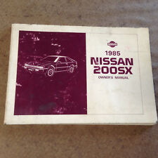 1985 Nissan 299SX owners Manual